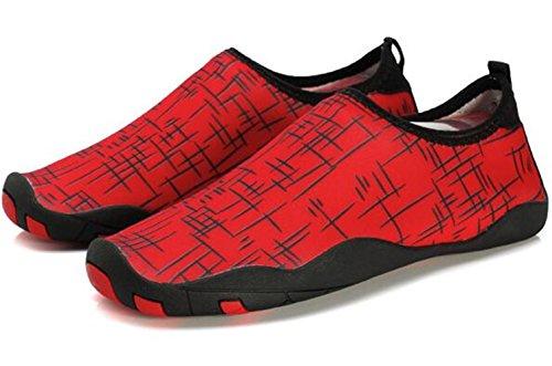 DADAWEN chaussures pour sport aquatique /plage /running Mixte Adulte Rouge