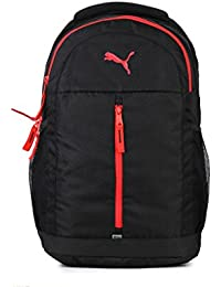 Puma Puma Black and Poppy Red Laptop Backpack (7554704)