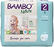 Bambo Nature Premium Baby Diapers - Small Size, 30 Count, for Infant Baby - Super Absorbent, with a Wetness In