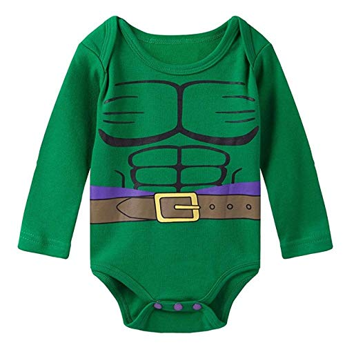 Lightsalt Baby Girl Boy Body de Manga Larga Mujer Maravilla superhéro