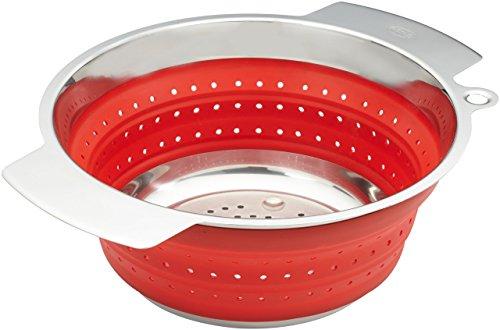 Rösle 16125 Seiher faltbar, 24 cm Durchmesser, rot