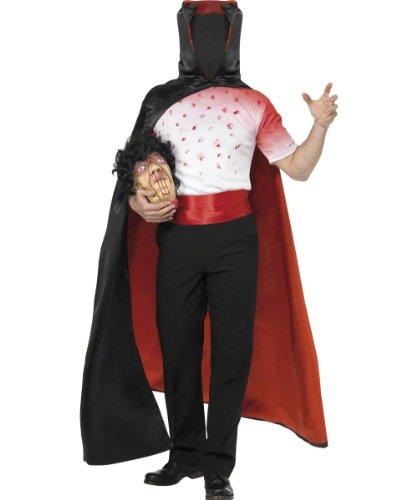 ser Mann ohne Kopf Halloweenkostüm Kostüm für Halloween geköpfter Zombie kopfloser Reiter Gr. 48/50 (M), 52/54 (L), Größe:M ()
