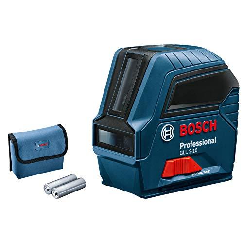 Bosch Professional Kreuzlinienlaser GLL 2-10 (Max. Reichweite: 10 m, 3x AA Batterien, im Karton)