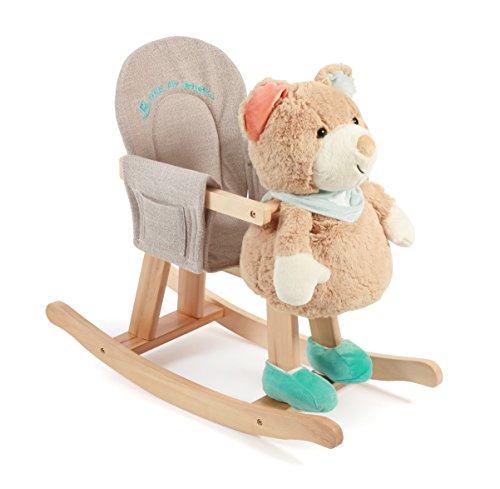 Bayer Chic 200040803-Balancín Oso con extraíble marioneta de Mano