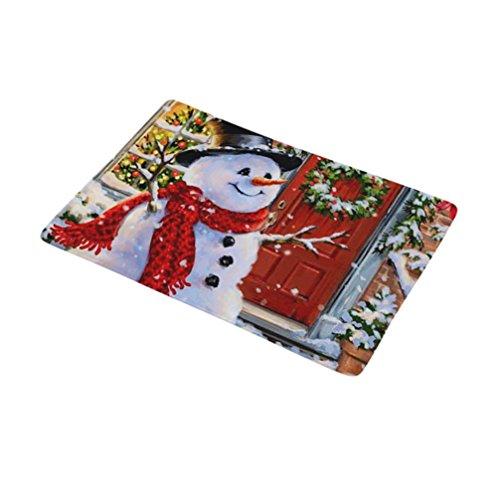 Gaddrt Weihnachten Home Rutschfeste Tür Fußmatten Hall Teppiche Küche Bad Teppich Decor (I)