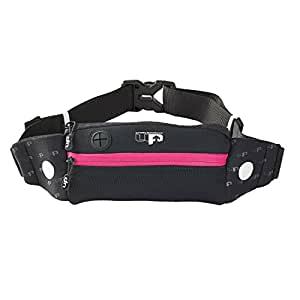 Ultimate Performance Titan Women's Runners Waist Pack - Black/Pink, One Size