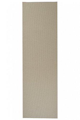 havatex Flachgewebe Teppich Sahara Läufer - robuste Kunstfaser in Edler Sisal-Optik | schadstoffgeprüft pflegeleicht | für Schlafzimmer Büro Flur Diele, Farbe:Beige, Größe:80 x 300 cm