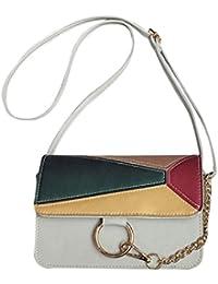 Menschwear Femmes pratique sac à bandoulière en cuir véritable avec sacs à main 2pcs Violet