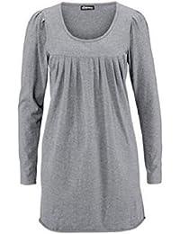 Mini Shirt Kleid von Chillytime in Grau Meliert