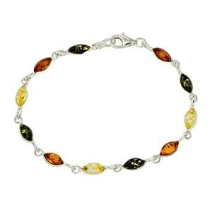 Bracelet - Femme - Argent 6.3 Gr - Ambre