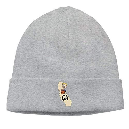Preisvergleich Produktbild Men's California CA Map & Funny Hollywood Casual Style Skiing Black Beanies Hats