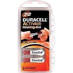 Duracell Batterien für Hörgeräte, Typ 312,PR41,ZL3, 60Stück