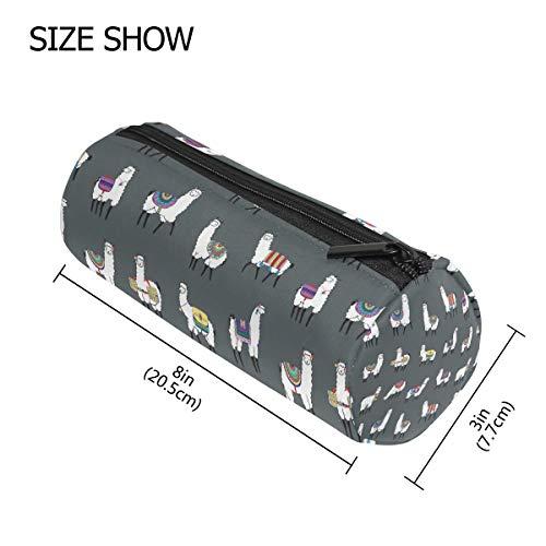 TIZORAX Niedliches Llama Federmäppchen Stifteetui mit Reißverschluss, für Münzen, Make-up, Kostüm-Tasche für Frauen Teenager Mädchen Jungen Kinder