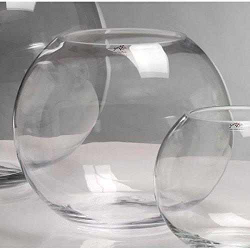 Sandra Rich Kugelvase, Glaskugel Globe H. 24,5cm D. 30cm Glas Transparent