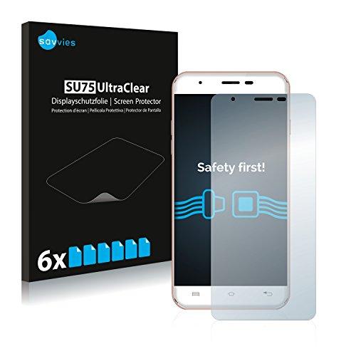 Savvies Schutzfolie kompatibel mit Oukitel U7 Max (6 Stück) - ultraklare Bildschirmschutz-Folie