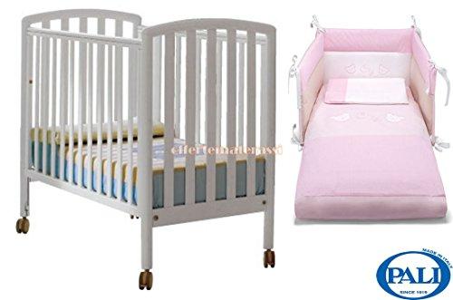 Newsbenessere.com 41JRoXovleL Lettino City Pali + Materassino + Set tessile rosa in coordinato