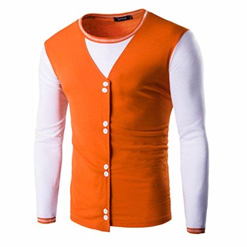 Men's Slim Fit Long Sleeve O Neck Single Casual Sweatshirt Chocolat
