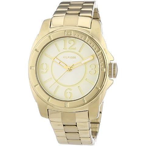 Tommy Hilfiger Watches 1781139 - Reloj analógico de cuarzo para mujer, correa de acero inoxidable chapado color