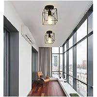 Apliques de interior Nordic hierro forjado lámpara de pared del país americano - jaula elíptica