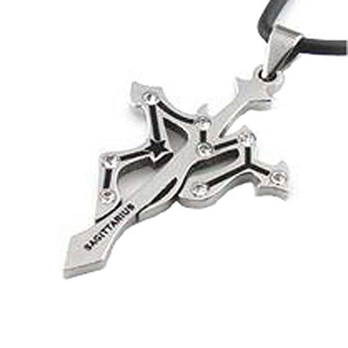 Collier pendentif en métal de style coréen Douze Constellation Sagittaire