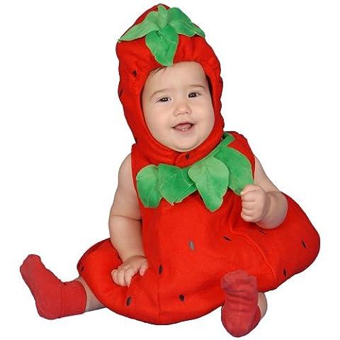 Dress Up America - 277-6-12 - Déguisement fraise pour bébé - 6-12mois - Taille 61-71cm
