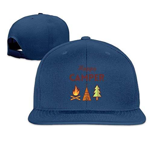 Suxinh Happy Camper Flat Baseball Cap Printing