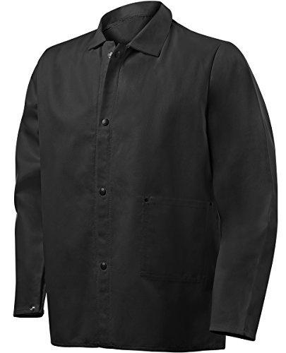 Steiner 1080-M Weld Lite 9 oz Fire Resistant Cotton Black Jacket, 30 Long/Medium by Steiner
