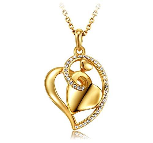 Echtgold-Halskette-Herz-18-k-Gold-Herzanhnger-Zarte-Kette-Herz-Liebe