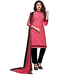 cf65a037d1 Amazon.in: Pinks - Dress Material / Ethnic Wear: Clothing & Accessories