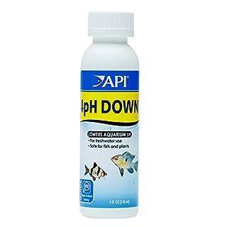 API pH DOWN Freshwater Aquarium Water pH Reducing Solution 118 ml Bottle