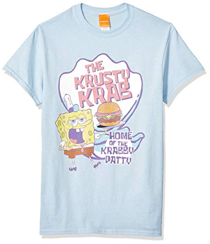 s Unisex-Erwachsene Krusty Krab-Light Blue T-Shirt, hellblau, Groß ()