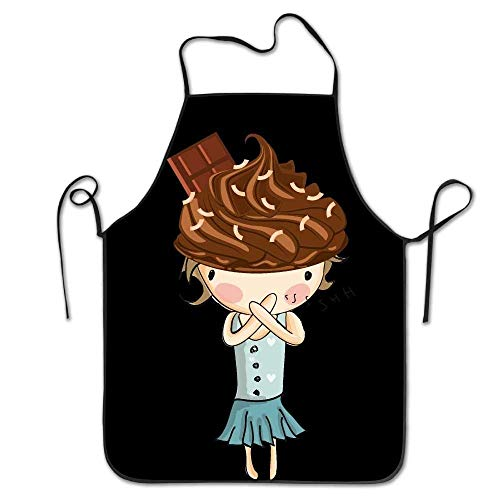 HTETRERW Puzzle Jigsaw Colorful Aprons for Women/Men Black Grill Funny Cloth Funny Chef Apron