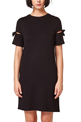 edc by ESPRIT Damen Kleid 058CC1E050, Schwarz (Black 001), X-Small