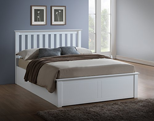 Birlea Phoenix Ottoman Bed - Pine, White, Small Double