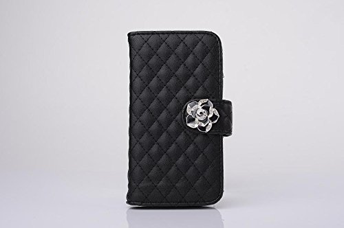 "inShang Hülle für Apple iPhone 6 Plus iPhone 6S Plus 5.5 inch iPhone 6+ iPhone 6S+ iPhone6 5.5"", Cover Mit Modisch Klickschnalle + Errichten-in der Tasche + GRID PATTERN, Edles PU Leder Tasche Skins E camellia black"