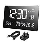 Best Digital Wall Clocks - Mpow Digital Clock Large Display, 11'' Large Curved-Screen Review