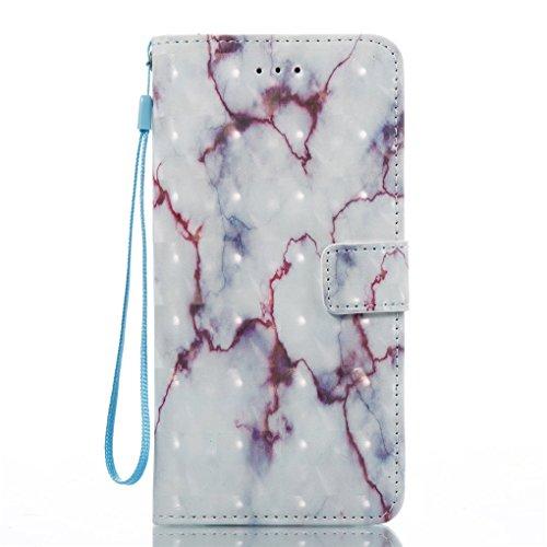 Apple iPhone 7 Plus / 8 Plus Hülle, SATURCASE Einzigartig 3D Stein Muster PU Lederhülle Ledertasche Magnetverschluss Flip Cover Brieftasche Case Handy Tasche Schutzhülle Handyhülle Hülle mit Standfunk Muster-2
