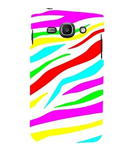 MULTICOLOURED WAVES PATTERN IN A WHITE BACKGROUND 3D Hard Polycarbonate Designer Back Case Cover for Samsung Galaxy Ace 3 :: Samsung Galaxy Ace 3 S7272
