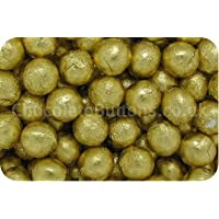Luxury Solid Milk Chocolate Gold Foiled Balls (500g bag) (pack of 105)