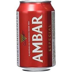 Ambar Cerveza Lata 52º - Paquete de 24 botellas de 33 - Total 792 cl