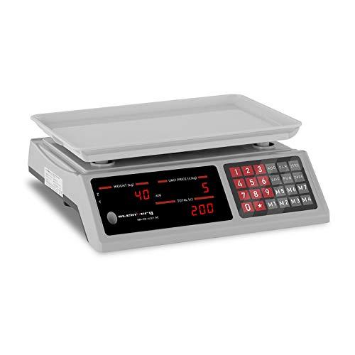 Steinberg Bilancia Contapezzi Bilancia di Controllo SBS-PW-402EP (Plastica ABS, 4 V, 8 Ore, 4 Ah, 0-40 kg)