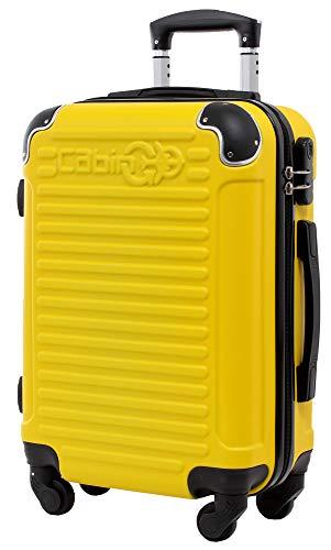 CABIN GO MAX 5575 - Trolley rigido in ABS grande valigia con ruote, 55x40x20 cm utilizzabile come bagaglio a mano di dimensioni standard