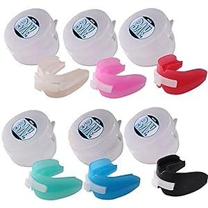 BAY® DOPPEL Sport-Zahnschutz mit Hygiene BOX, Farbe weiß schwarz rot blau pink rosa CE GEPRÜFT, Mundschutz, Junioren, Senioren, mit DEUTSCHER ANLEITUNG Zahnschiene oben und unten doppelter