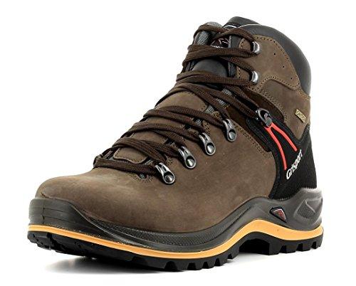 Grisport Unisex Schuhe Herren und Damen aus der Ranger Linie, Trekking- und Wanderstiefel aus hochwertigem Leder, Membrankonstruktion und Vibramsohle, Braun, 44 EU