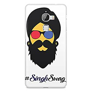 Printed back cover for le max 2 by Motivatebox. Singh Swag Punjabi with Beard design, Polycarbonate Hard case with premium quality and matte finish