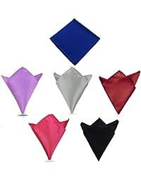 6 pochettes de poche de soie. Ensemble de 6 carrés colorés Hanky.