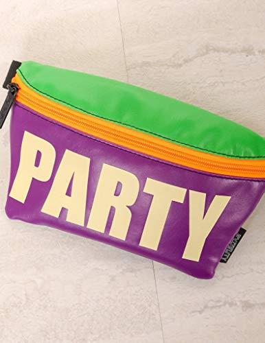 Fydelity - Ultradünne Fanny Pack: Party Glow in -THE-Dark - Rock Dance, Peace