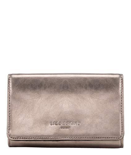 Liebeskind Berlin Damen Basic Slg Metallic - Cork Wallet Medium Geldbörse, Silber (Warm Silver), 4x10x16 cm -