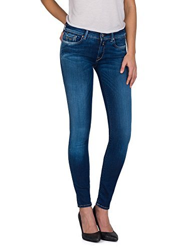 Replay Damen LUZ Skinny Jeans, Blau (Mid Blue Denim 9), W28/L32