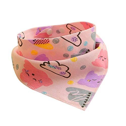 Neugeborenes Baby Pulver (Lätzchen Baby Abwaschbar Baumwolle Neugeborene Spucktuch Lätzchen Pulver mehr Wolken Handtuch Doppelschicht Schnalle für Baby Jungen und Mädchen Kleinkinde (1 Stück))